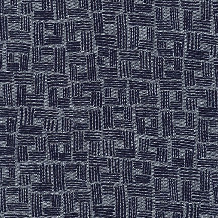 Forage by Anna Graham for Robert Kaufman Sketch Indigo