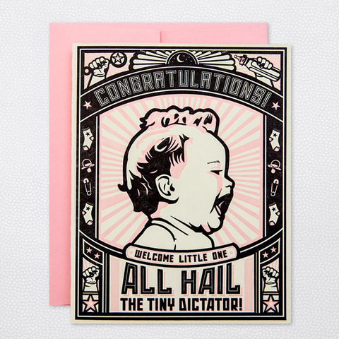 Hello Lucky Tiny Dictator (Girl) Card