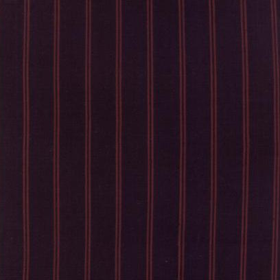 Homespun Gathering Wovens Double Stripe Iron Black/ Fireweed