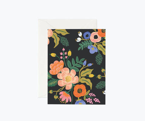 Rifle Paper Co. Lively Floral Black Card