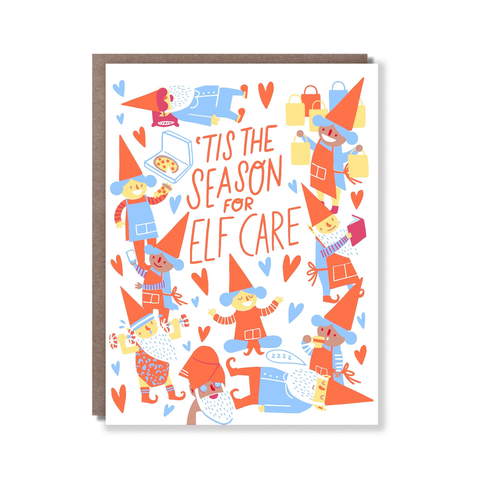 Hello Lucky Elf Care Card