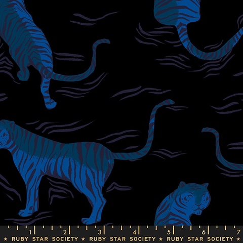 Tiger Fly by Sarah Watts for Ruby Star Society Tiger Fly Rayon Black