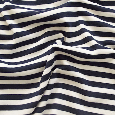 Ponte Navy Stripes 58""