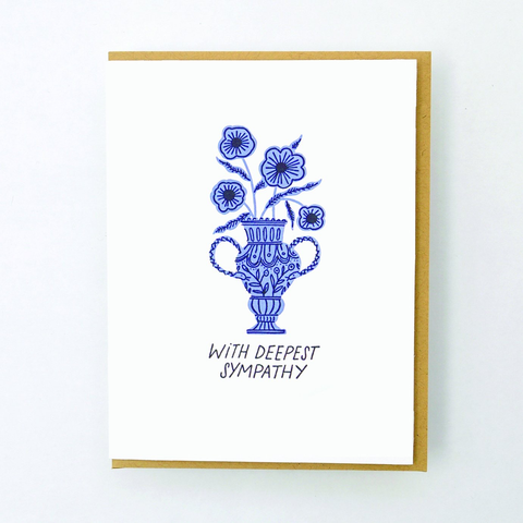 Hello Lucky Floral Urn Card