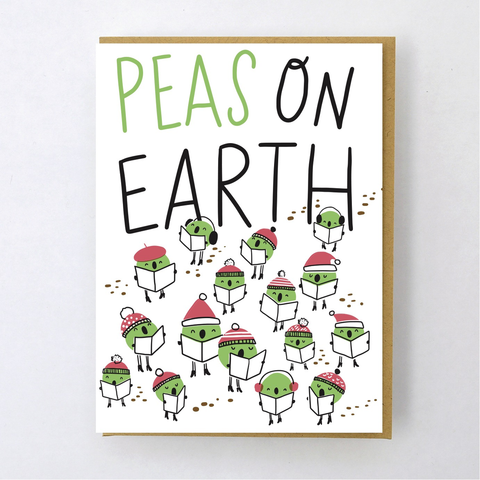 Hello Lucky Peas On Earth Card