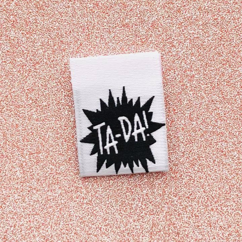 Kylie and the Machine Ta-Da! Woven Label (8 ct)