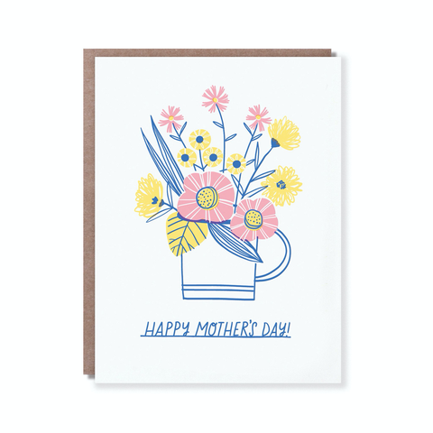 Hello Lucky Cup of Flowers Card