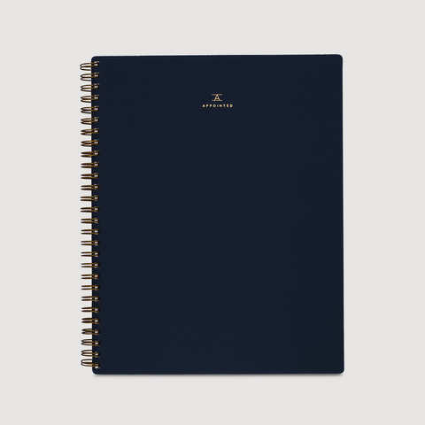 Appointed Lined Notebook Oxford Blue