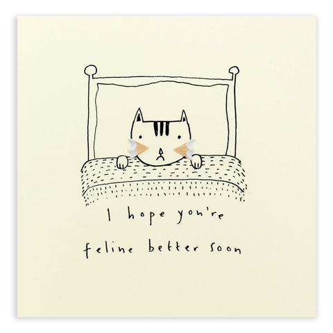 Pencil Shavings Feline Better Card
