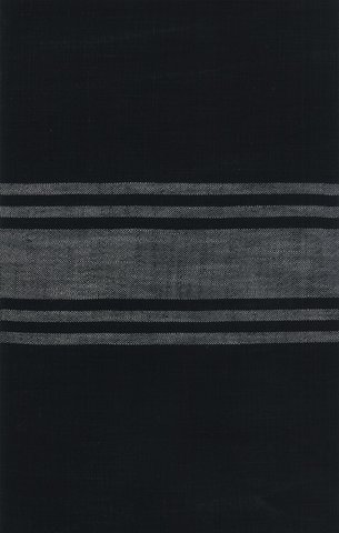 Urban Cottage by Urban Chiks Striped Toweling Black Grey