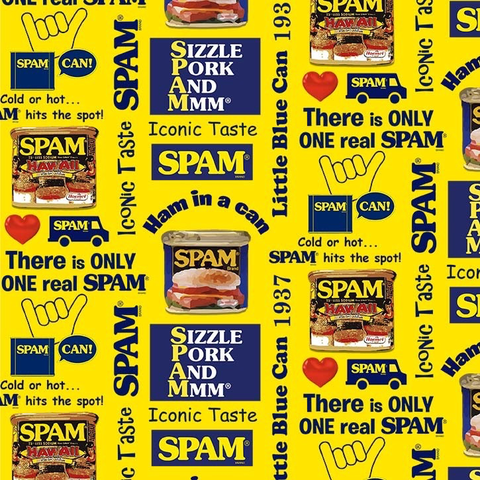 Cotton Duck Novelty SPAM Yellow