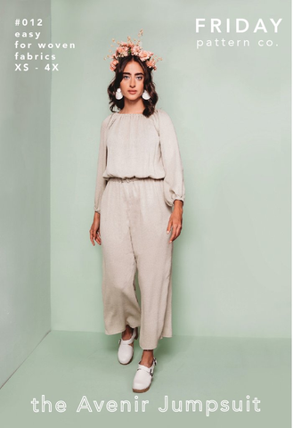 Friday Pattern Company Avenir Jumpsuit Clothing Pattern