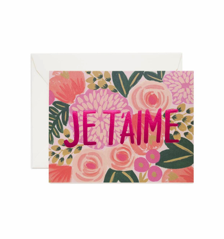 Rifle Paper Co. Je T'aime Card