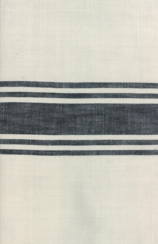 Urban Cottage by Urban Chiks Striped Toweling Ivory Black