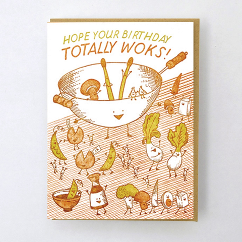 Hello Lucky Wokkin' Birthday Card