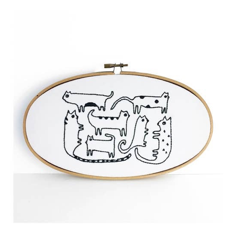 Cats Embroidery Kit by Budgie Goods