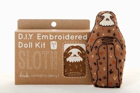 Kiriki Press Sloth Embroidery Kit
