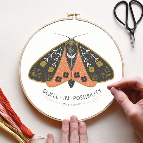 Dwell in Possibility Embroidery Sampler by Gingiber