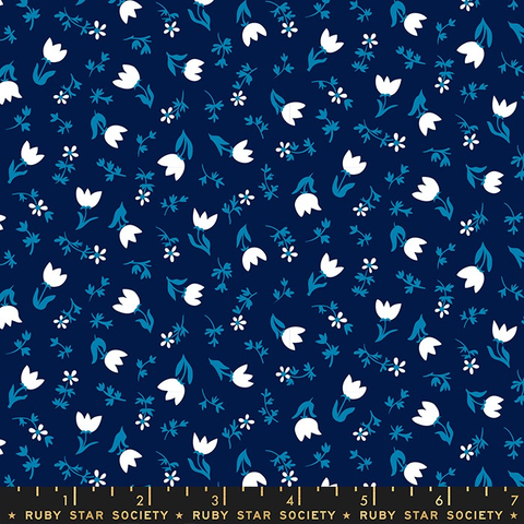Smol by Kimberly Kight for Ruby Star Society Tulip Calico Navy