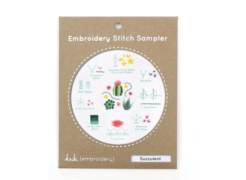 Kirike Press Succulent Stitch Sampler Embroidery Kit