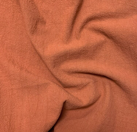 Sand-Washed Cotton Crepe Rust 52""