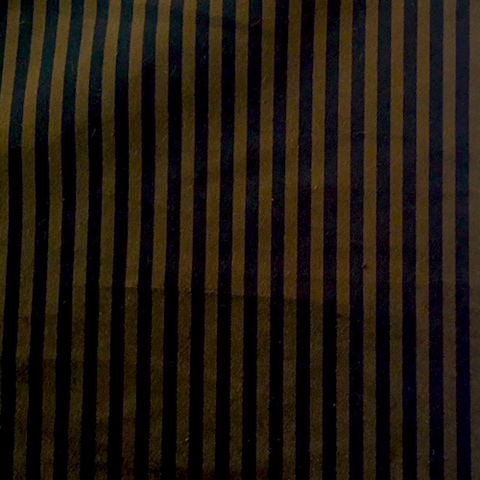 Italian Cotton Striped Velvet Black/Olive 44""