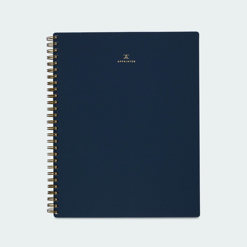 Appointed Lined Workbook Oxford Blue