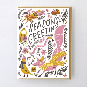 Hello Lucky Woodland Greetings Holiday Card