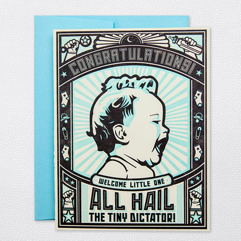 Hello Lucky Tiny Dictator (Boy) Card