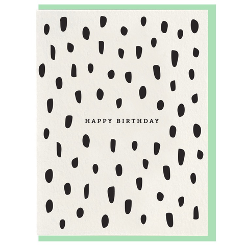 Dahlia Press Birthday Brush Card