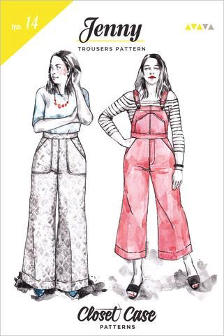 Closet Core Patterns Jenny Trousers & Overalls Sewing Pattern