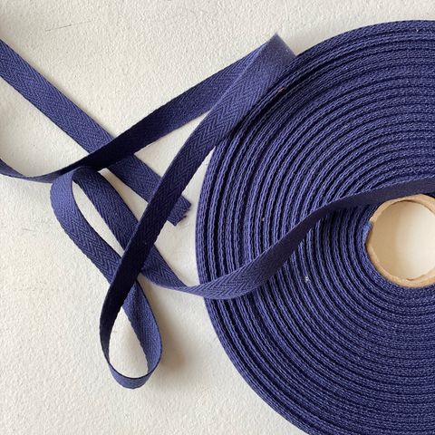 Cotton Twill Tape Navy Blue 1/2""