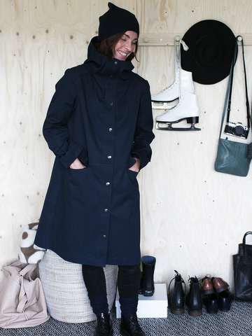 Hoodie Parka Sewing Pattern by The Assembly Line