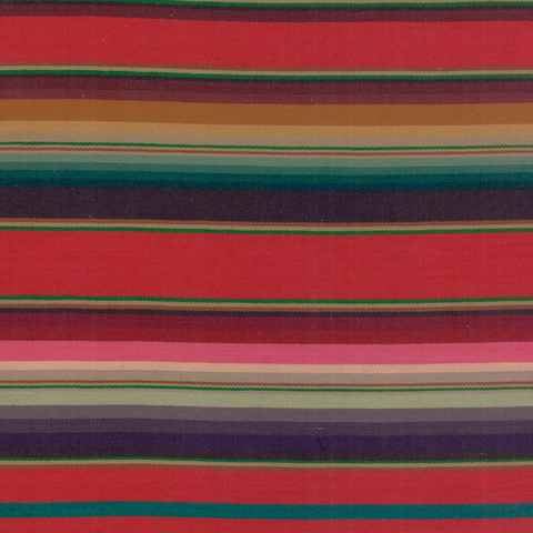 Santa Fe Wovens Serape Stripe Red Multi