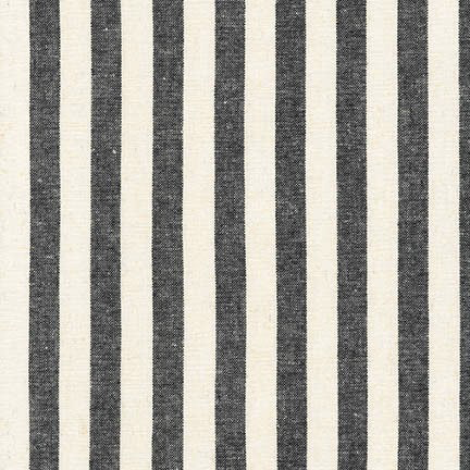 Essex Yarn-Dyed Classic Wovens Wide Stripe Black/Cream