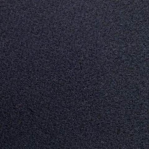 100% Wool Coating Textured Dark Navy 55""