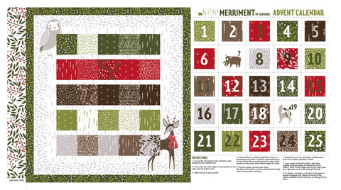 Merriment Advent Calendar by Gingiber Multi (sold per panel)