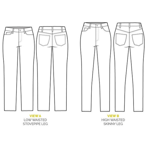 Closet Case Patterns Ginger Skinny Jeans Sewing Pattern – Drygoods ...
