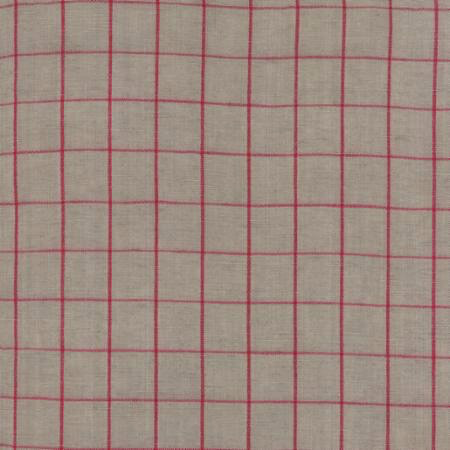 Moda Toweling Linen Closet Stone Red Check 16""