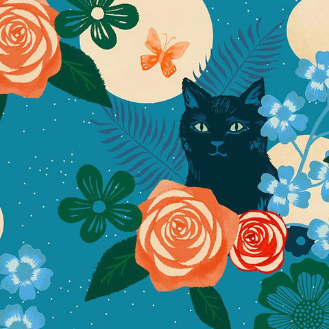 Ruby Star Society Rayon 2019 Magic Cat Teal