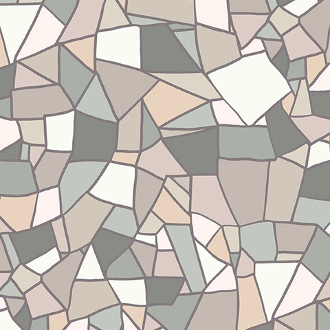 Mosiac by Shannon Brinkley Mosaic Tile Early Grey