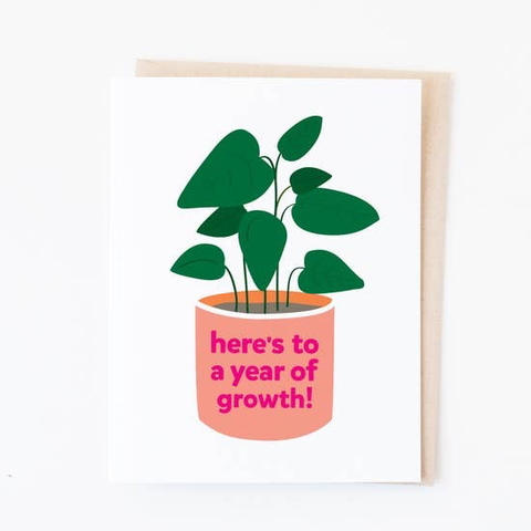 Graphic Anthology Year of Growth Card