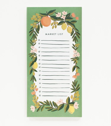 Rifle Paper Co. Citrus Floral Shopping Pad