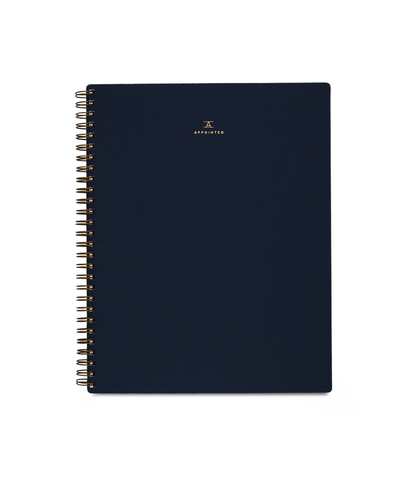 Appointed Grid Notebook Oxford Blue