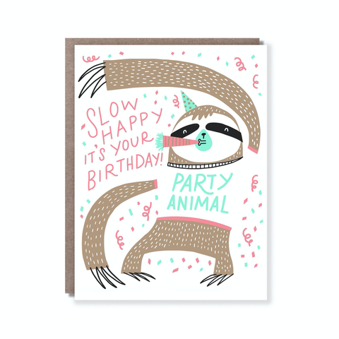 Hello Lucky Slow Birthday Card