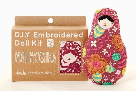 Kiriki Press Matryoshka Embroidery Kit