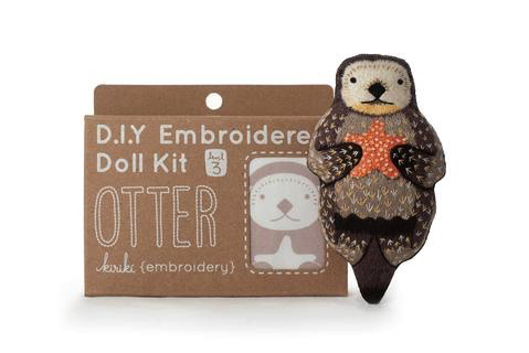 Kiriki Press Otter Embroidery Kit