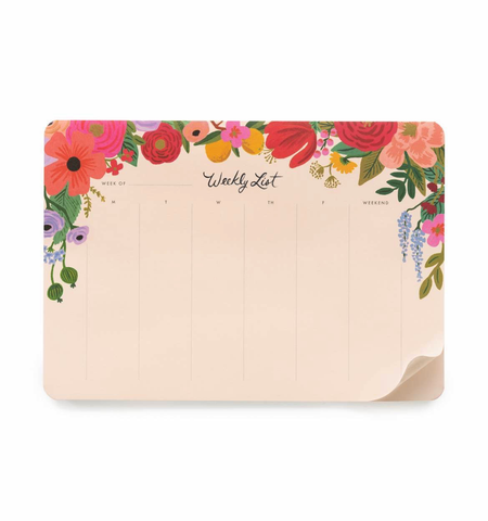 Rifle Paper Co. Everyday Weekly Desk Pad Garden Party