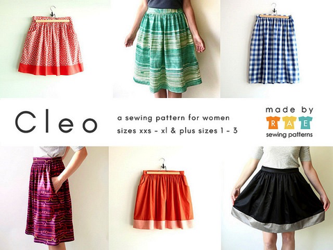 Made by Rae Cleo Skirt Printed Sewing Pattern