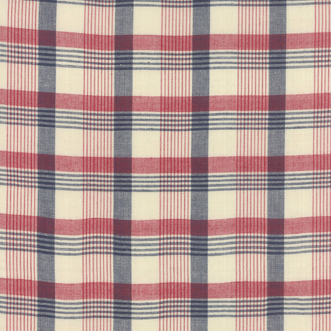 Vive La France by French General Woven Plaid Rouge Indigo